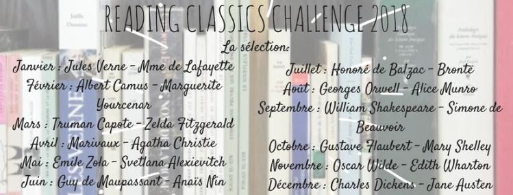READING CLASSICS CHALLENGE 2018